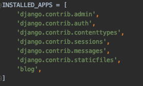 installed apps در جنگو